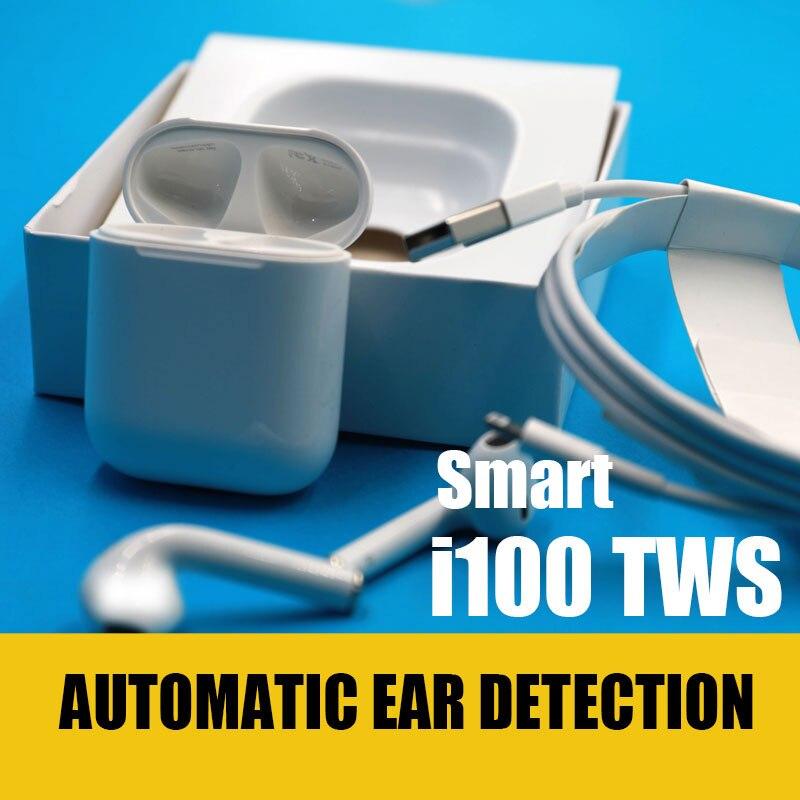 Oreillettes sans fil Bluetooth à détection d'oreille d'origine air 1: 1 i100 TWS PK i30 TWS i80 I90 i77 TWS