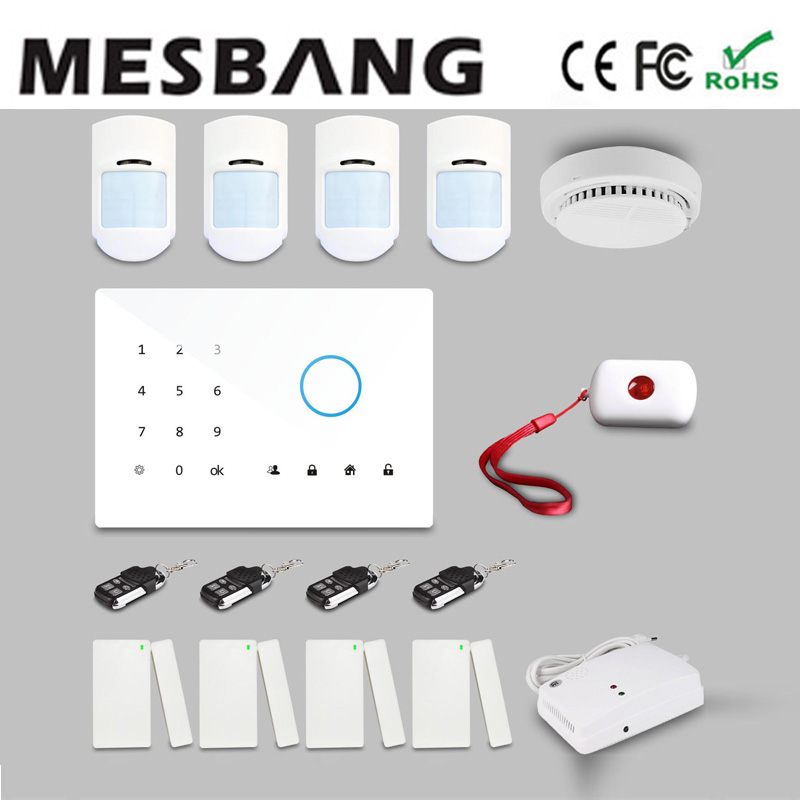 wireless security house GSM alarm system with English, Russian, Spanish, German, French free shipping