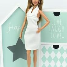 c3b9cb67ba Vestido blanco Sexy sin espalda de moda para muñeca Barbie ropa vestidos de noche  Vestido para muñeca Barbie 1 6 accesorios de m.
