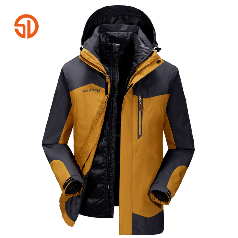AFS JEEP Soft Shell Jackets Men Tactical Hikingg Jacket Winter Jacket Coat Mens Patchwork Plus Size M-4XL Outdoors Sportting все цены