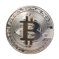 100pcs/pack high quality Gold Plated Bitcoin Coin Collectible Coins Art Collection Gift Physical Metal antique home decor