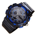 Digital Camo Watch Dual Time Sports Watches Automatic Waterproof Watch Men Fashion Watches Quality Clock Wristwatch Rubber strap