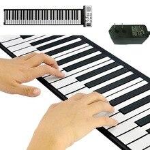 Fold profession Electronic organ Superior  Roll Up Piano with Soft Keys (61 Keys, 128 Synthesized Tones, 100 Preset Rhythms)