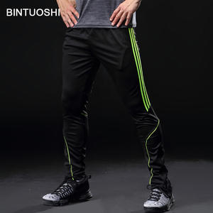 78fa3a1687e BINTUOSHI Running Pants Men With Pocket Football Soccer Training Pants