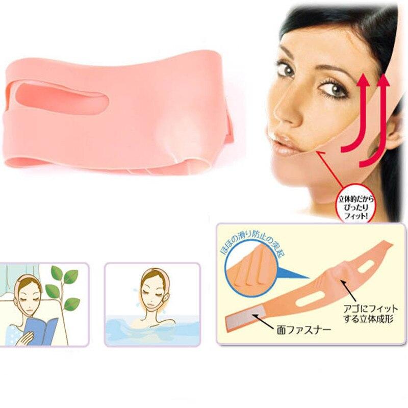 94191e3d6924c V Rosto Levantar Cinto Sliming Rosto Máscara de Dormir Massagem Shaper  Banda Relaxamento Máscara Facial Noite Bandagem