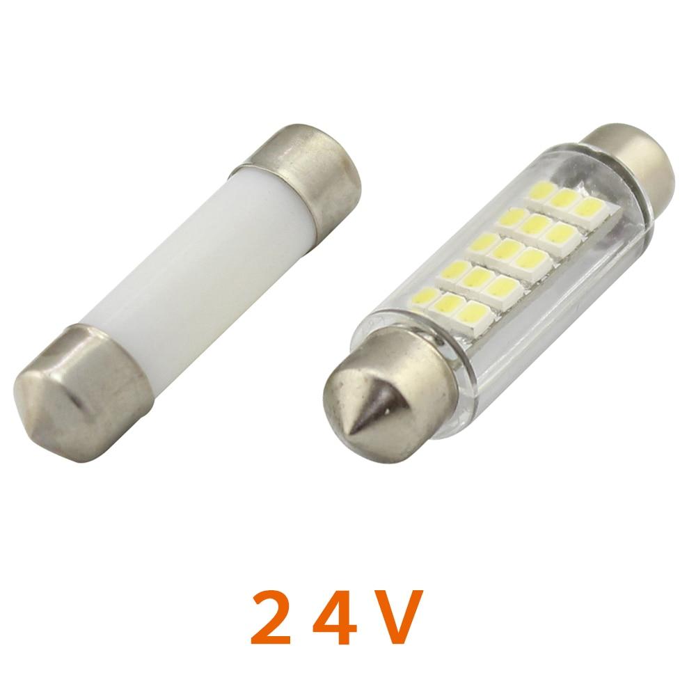 US $33 39 5% OFF|24V DC LED Festoon Lamp Bulb 27mm 31mm 36mm 39mm 41mm 44mm  C5W Dome Stern Light Side Marker Light Bulb White Warm White 100pcs-in LED