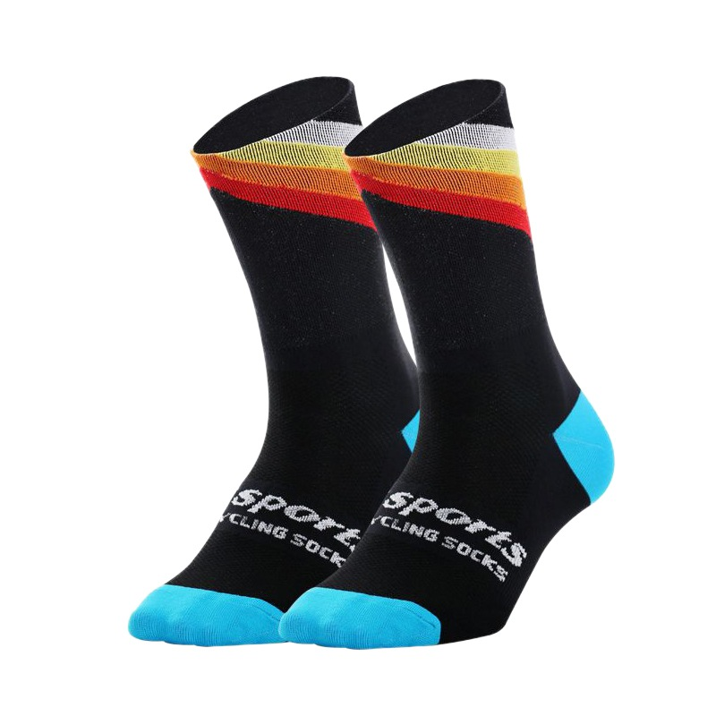 Mens Professional Sport Cycling Socks Breathable Mid Length Training Socks Outdoor Sports Socks