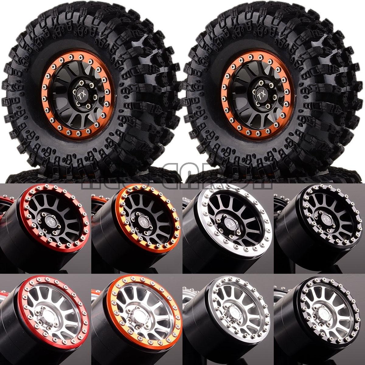 Nouveau ENRON 1:10 SET aluminium 2.2 roues et pneus Beadlock 2022-3021 pour RC 1/10 roche chenilleNouveau ENRON 1:10 SET aluminium 2.2 roues et pneus Beadlock 2022-3021 pour RC 1/10 roche chenille
