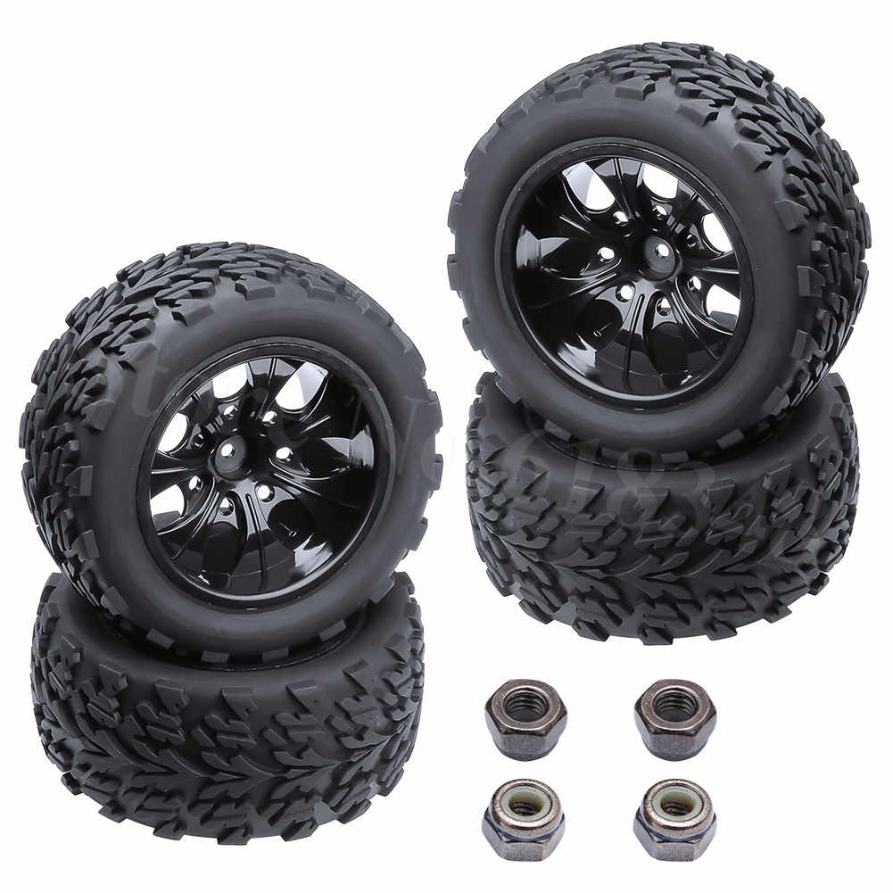 4 stuks RC Tire & Velg Hex 12 MM Voor RC Himoto 1/10 Off Road Monster Truck Fit HSP amax Redcat Exceed HPI Racing