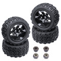 4 piezas RC neumáticos y ruedas Hex 12mm para RC Himoto 1/10 Off Road Monster Truck Fit HSP amax Redcat Exceed HPI Racing