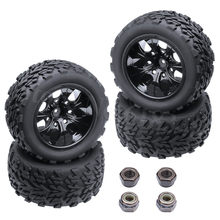 4 stuks RC Tire & Velg Hex 12 MM Voor RC Himoto 1/10 Off Road Monster Truck Fit HSP amax Redcat Exceed HPI Racing(China)