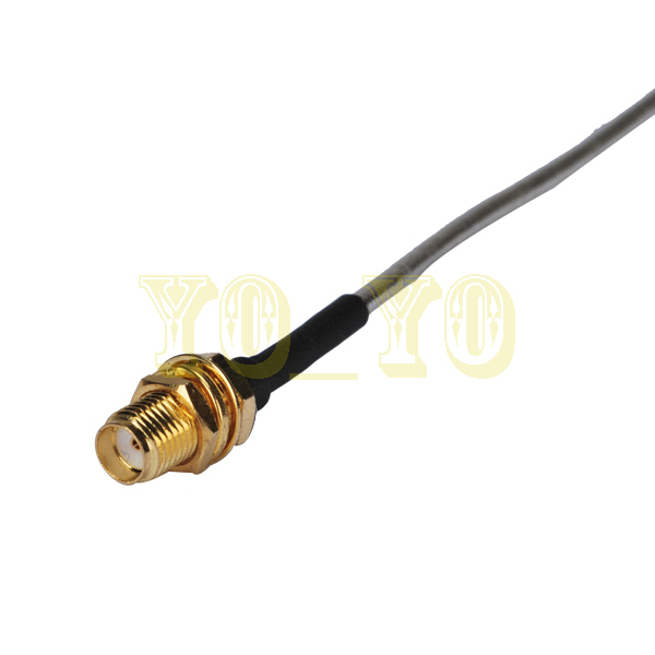 2015 Top Brand SMA jack bulkhead Connector 6inch External WiFi Wireless Antenna Extension Cable with solder SMA jack bulkhead