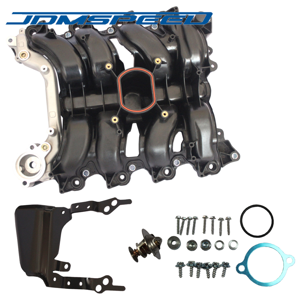 Free Shipping JDMSPEED Intake Manifold With Thermostat Gaskets Kit Fit For Ford Lincoln Mercury 4 6L