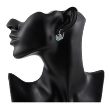 Women's Elegant Drop Earrings with Colorful Crystals