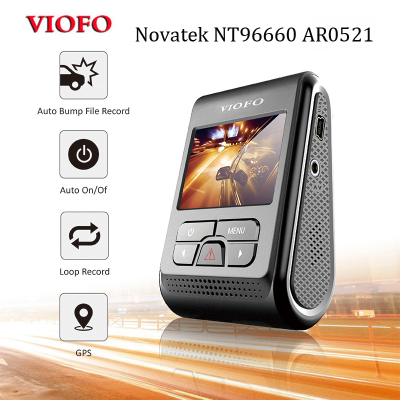 DVR Capacitor Dashcam VIOFO 1440P A119 Pro Novatek Original Car-Dash-Video-Recorder LCD title=