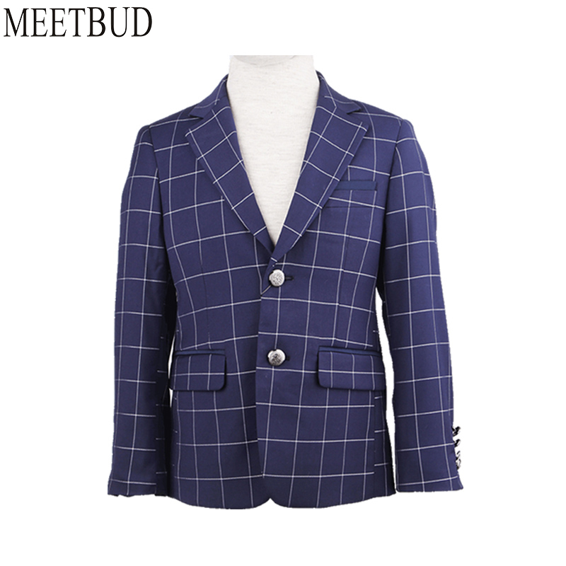 2018 New arrival Fashion New Baby Boys Kids Suits Wedding Flower Boys Suit Spring Autumn Children Blue blazers Casual Dress Suit kids blazers jackets blue patchwork clothing set for baby clothes boys wedding dress children lounge suit terno infantil blazers