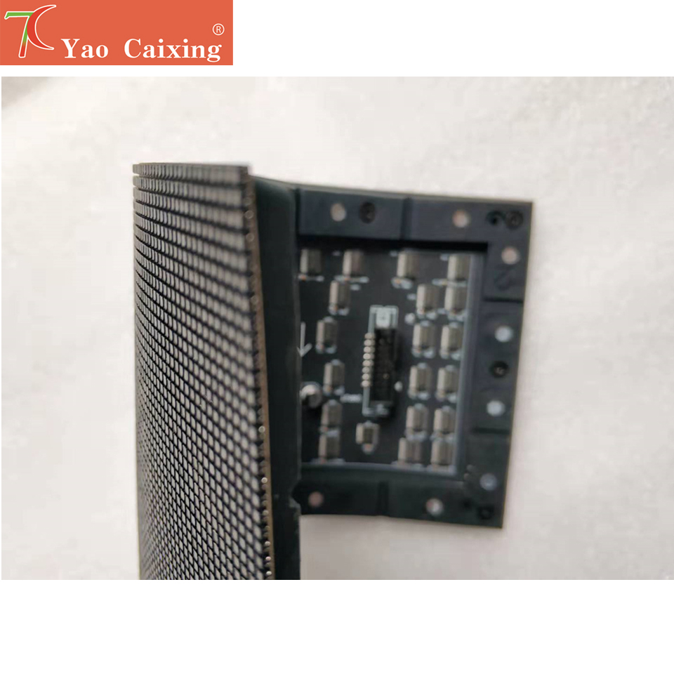 yao caixing <font><b>120x60</b></font> dots P2 indoor matrix rgb color smd board flexible panel shipping free led sign display screen tv soft board image