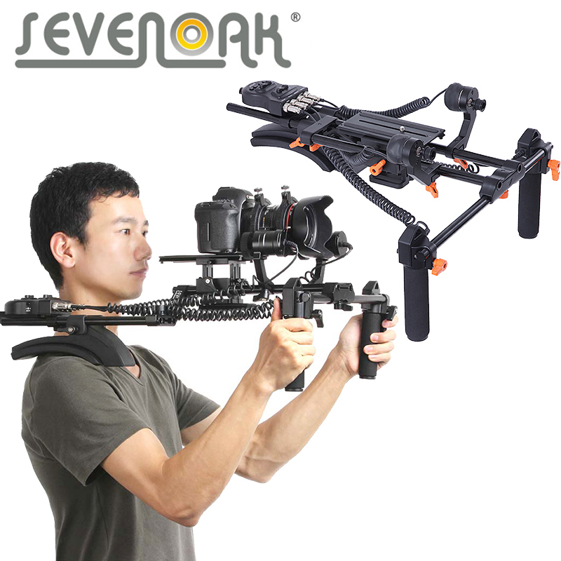 Sevenoak Memory Function Motorized Follow Focus & Zoom Control Shoulder Rig for Canon 5D2 5D3 6D 7D 70D 60D Nikon Sony DSLR digitalfoto pdmovie motorized wired follow focus zoom focus for dslr camera dji ronin m rig 3 axis gimbal film making sony nikon