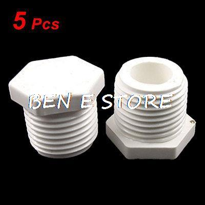 5 Pcs R 1 2 Male BSP Thread White PVC Plastic Pipe End Cap Plug In Fittings From Home Improvement On Aliexpress