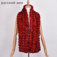 145cm long winter real women rabbit fur long scarf lady casual Fur stole men rex rabbit fur muffler 100% Fur high Quality soft