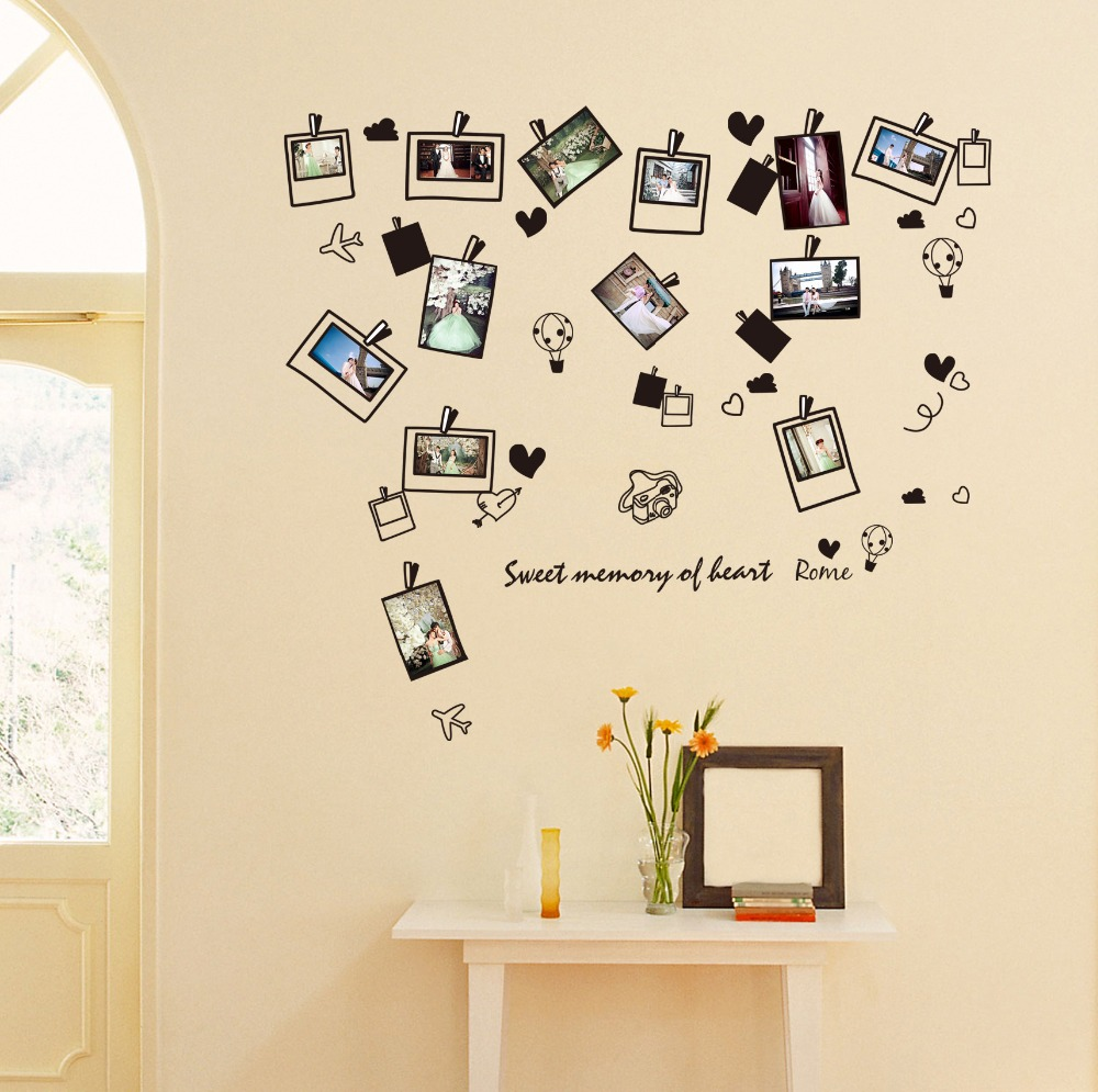 Wall Picture For Living Room Photo Frame Wall Sticker Home