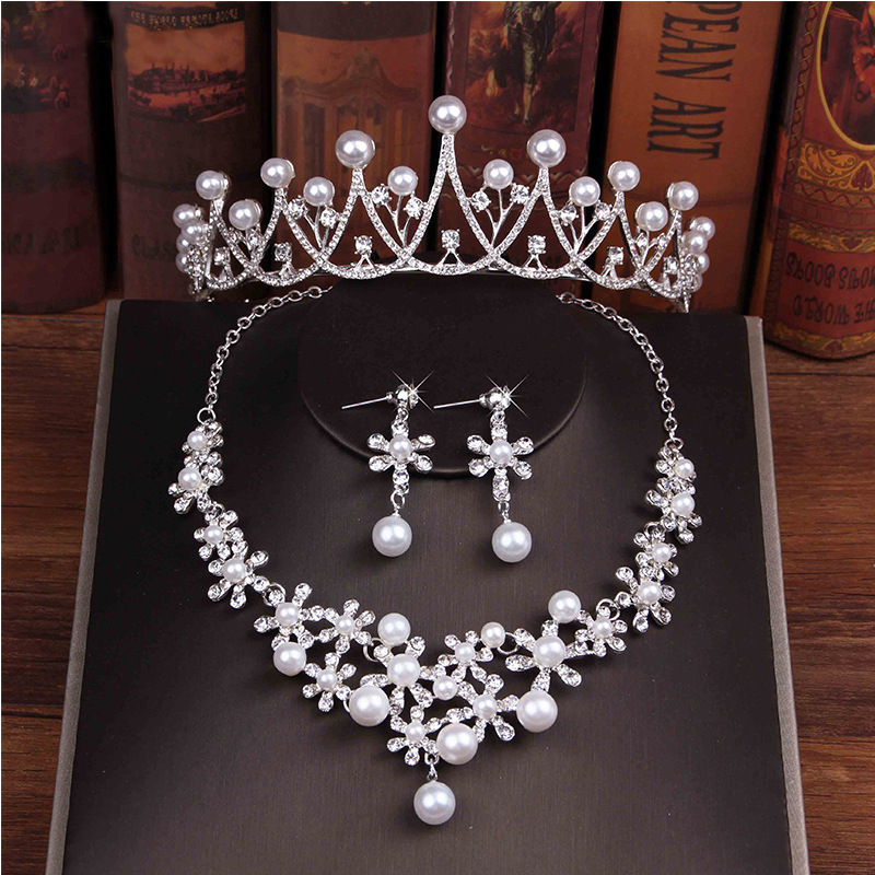 8 Designs Silver and Gold Wedding Bridal Jewelry Sets Girl/Women Pageant Prom Crystal Wedding Bride Jewelry Accessories Sets