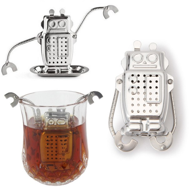 Creative Stainless Steel Robot Tea Infuser Manufacturer Direct Recyclable Tea Strainer Tea Tool