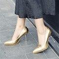 Plus Size 34-48 Nova Mulher Estilo Estranho Sapatos de Salto Alto mulheres Bombas de Sapatos de Casamento Do Dedo Do Pé Apontado Stiletto Salto Fino das Mulheres sapatos