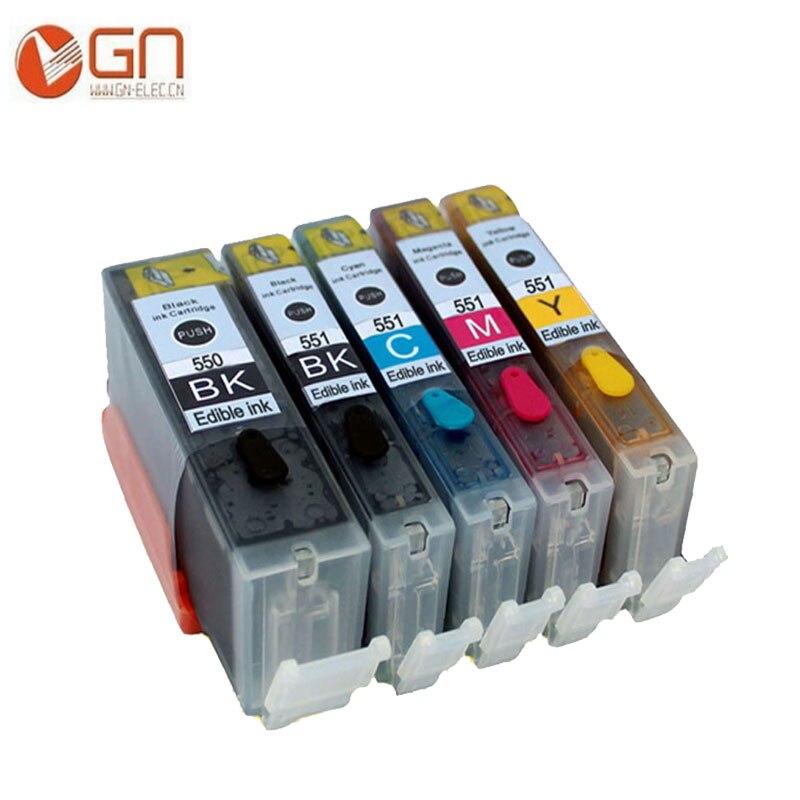 GN 5 ชิ้นสำหรับ PGI 550 CLI 551 pgi550 pgi-550 - เครื่องใช้ไฟฟ้าสำหรับสำนักงาน