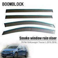 BOOMBLOCK Car Covers Window Visor Sun Rain Wind Deflector Awning Shield ABS For VW Touran mk2 2016 2017 2018