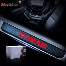Для Isuzu D-MAX двери автомобиля порог пластина Накладка на задний бампер дверные пороги стикеры s 4D углеродного волокна виниловая наклейка 4 шт. авто аксессуары