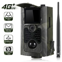 4G MMS Trail Camera Hunting Wildlife Cameras Photo Video Waterproof 16MP 1080P Night Version HC 550LTE Wild Tracking Cam