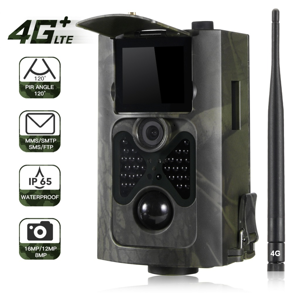 FTP SMTP Email 4G MMS SMS Trail Camera Hunting Wildlife Cameras Cellular Mobile Wireless Wild 16MP 1080P Night Vision HC550LTE