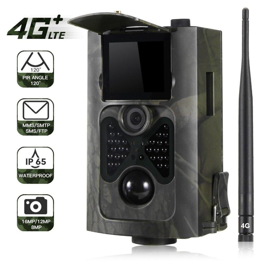 FTP SMTP Email 4G MMS SMS caméra de traînée chasse faune caméras cellulaire Mobile sans fil sauvage 16MP 1080 P Vision nocturne HC550LTE