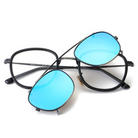 Polarized Sunglasses Women Men Double Lens Sun Glasses Clamshell Glasses Brand Blue Square Sunglass for Women Oculos De Sol TR90