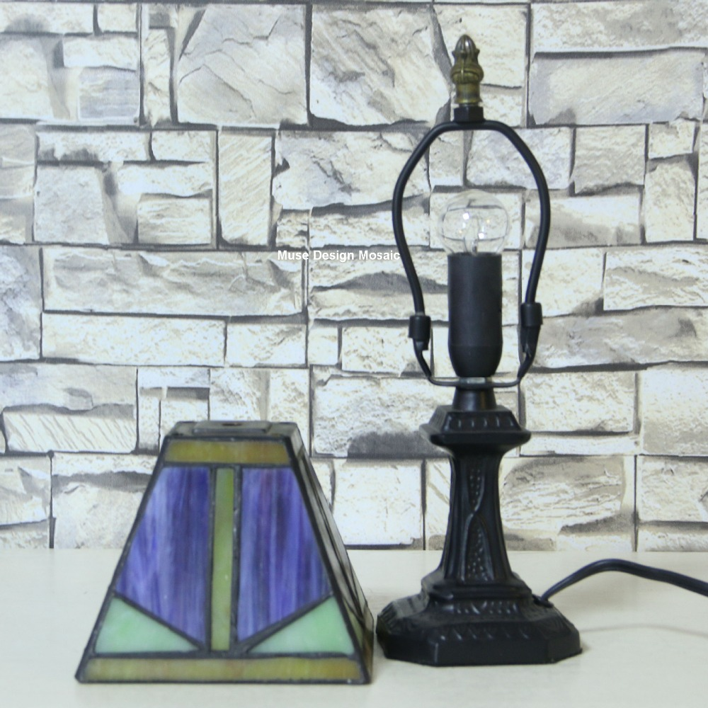 Shipping free, Purple Art Deco Stained Glass Tiffany Lamps , Small ...