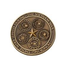 Metallic copper high-grade stamping commemorative coin American souvenir Military enterprise custom