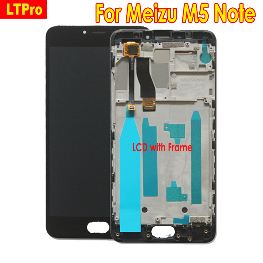 LTPro Top Quality Tested LCD Display For Meizu M5 Note <font><b>M621Q</b></font> M621M Touch Screen Digitizer Assembly or with Frame Phone Parts image