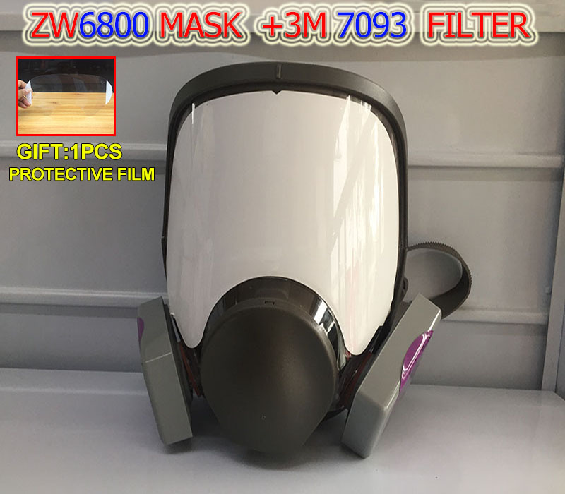 1PCS ZW 6800 Breathing Mask + 2PCS 3M 7093 Filter P100 Particulate Matter Respirator Gas Mask For Dust Smoke Breathing Mask