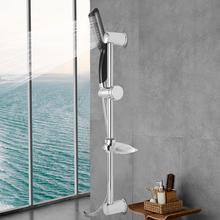 G1/2 Rainfall Handheld Shower Head Hose Lift w/ Soap Storage Case Wall Mount Faucet Set pommeau de douche