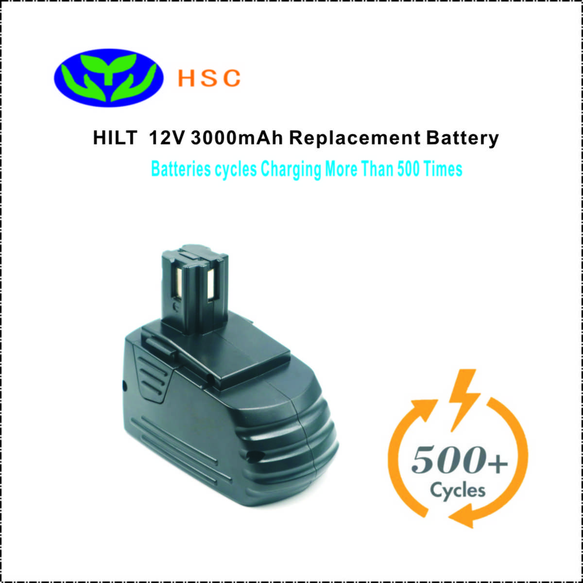3 0Ah rechargeable battery pack HIL12A NiMh Battery 12V Replacement for Hilti SFB121 SFB126 TCM2 SF120