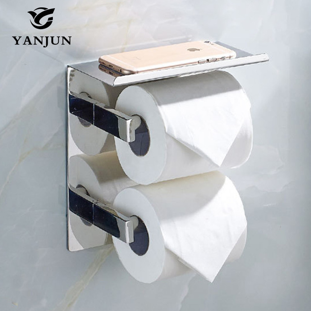 yanjun 2016 new style double vertical roll toilet paper holders multi function bathroom shelves bathroom - Multi Bathroom 2016