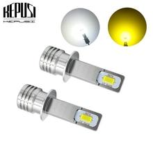2x Canbus Error Free светодиодный H1 противотуманная лампа для автомобиля двигатель грузовика фары дневного света светодиодный лампы 12V 24V для автомобилей, белый цвет