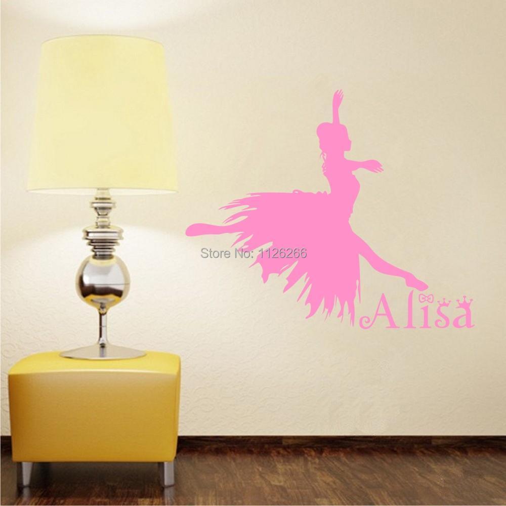 el ballet dancing girl tatuajes de pared para la decoracin del dormitorio