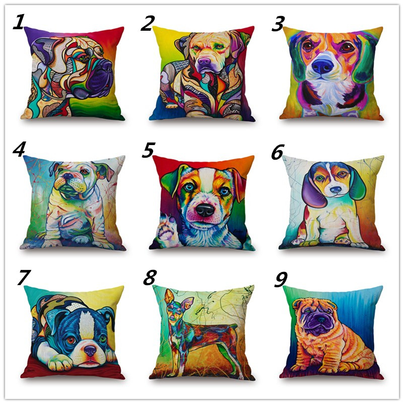 Maiyubo Animal Cushion Cover Dog for Child Decorative Cushion Cover for Sofa Throw Pillow Car Chair Home Decor Sofa Pillow PC073