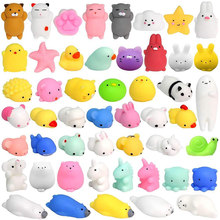 New Mini Cute Cat Squishy Antistress Ball Creative Mochi Rising Abreact Soft Squeeze Toy Stress Relief Funny Kids Gift Toy(China)