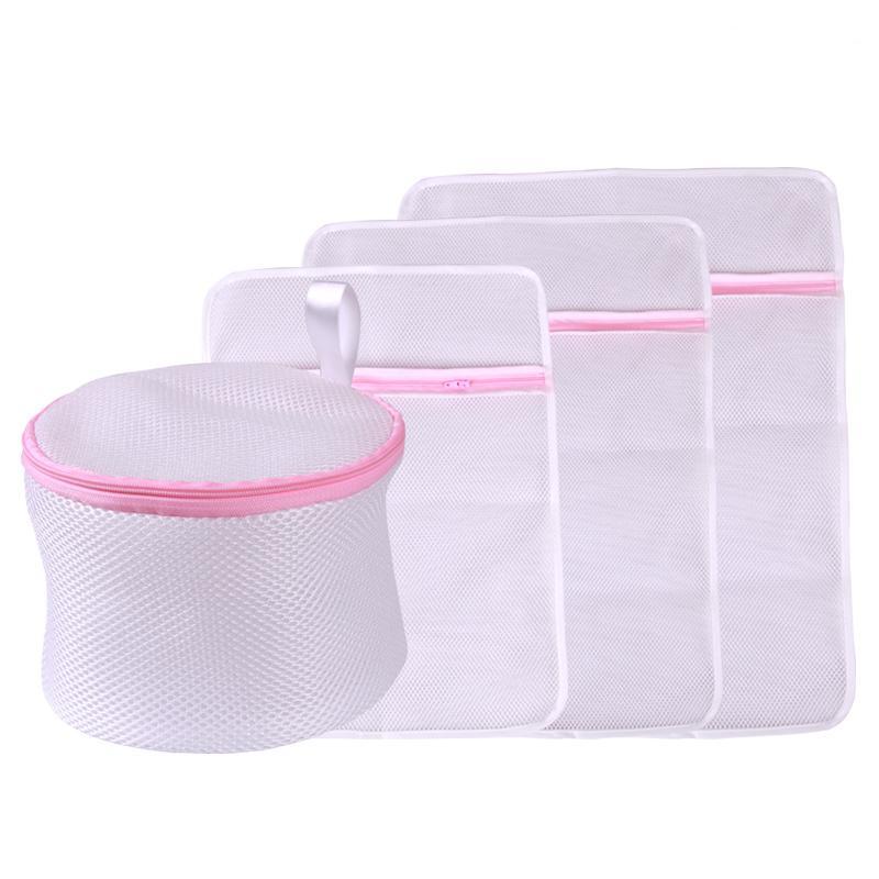 LKQBBSZ 4pcs/lot Laundry Bag Set For Clothes Lingerie Wash Wear Shirt Sock Underwear Washing Lingerie Wash Protecting Mesh Bag