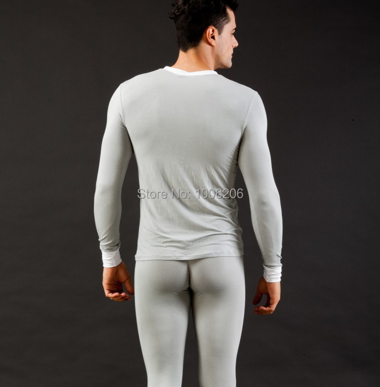 Hot Men's Warm Long Johns Comfy Thermal Underwear Suit Tops Shirts ...