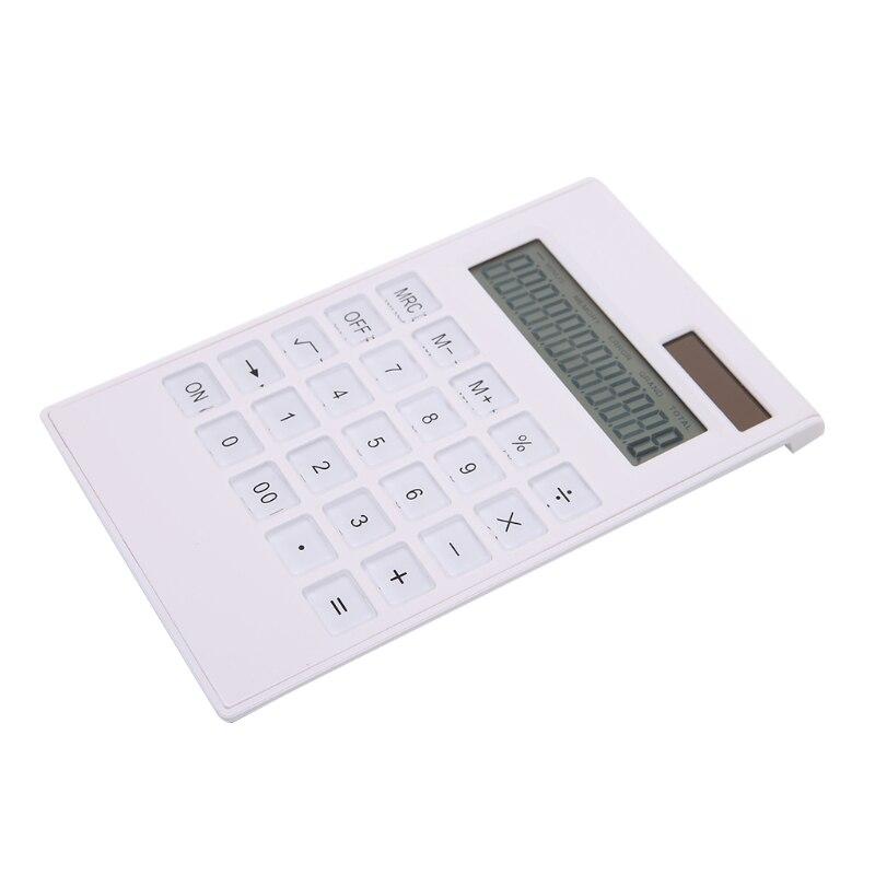 12 цифр электронный калькулятор солнечный калькулятор Бизнес работы рассчитать коммерческий инструмент Батарея или солнечный 2 in1 питание