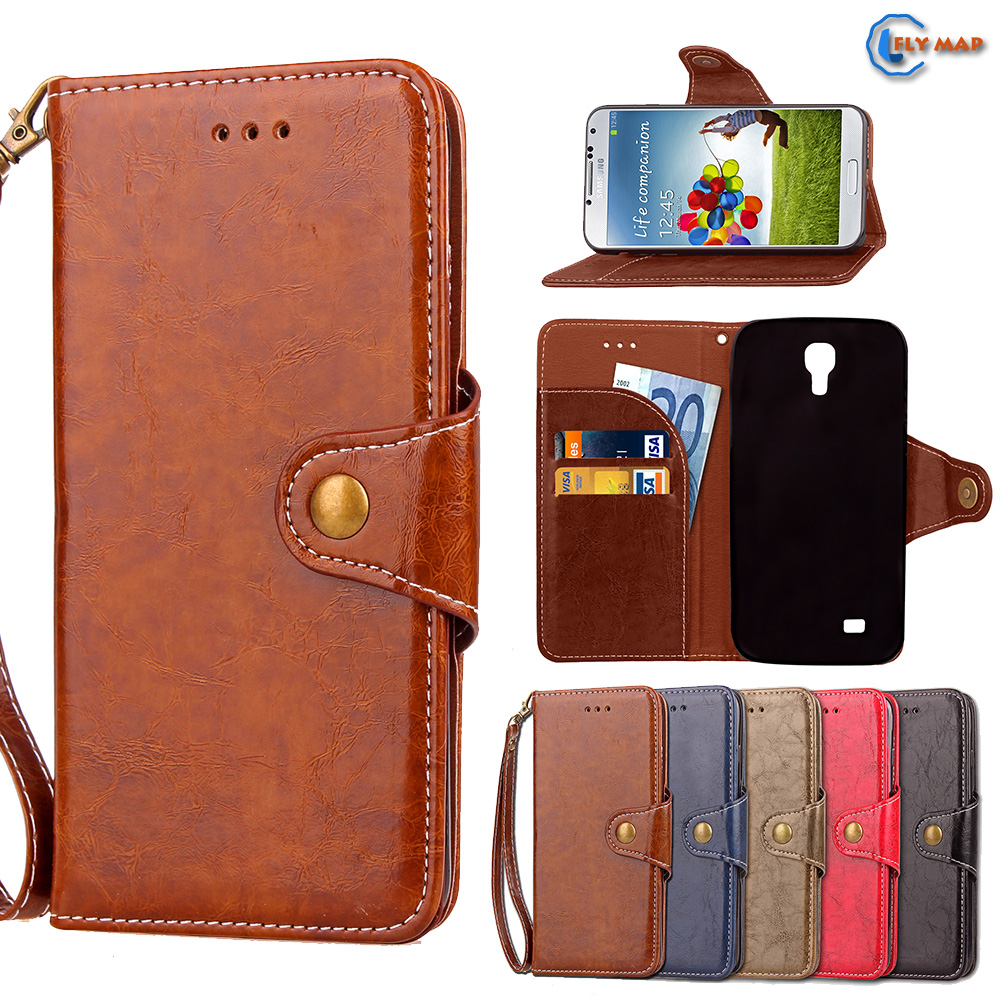 Case For Samsung Galaxy S4 S 4 GalaxyS4 I9505 I9506 I9515 Wallet Flip Phone PU Leather Cover GT I9502 I9500 9505 I9506 I9515